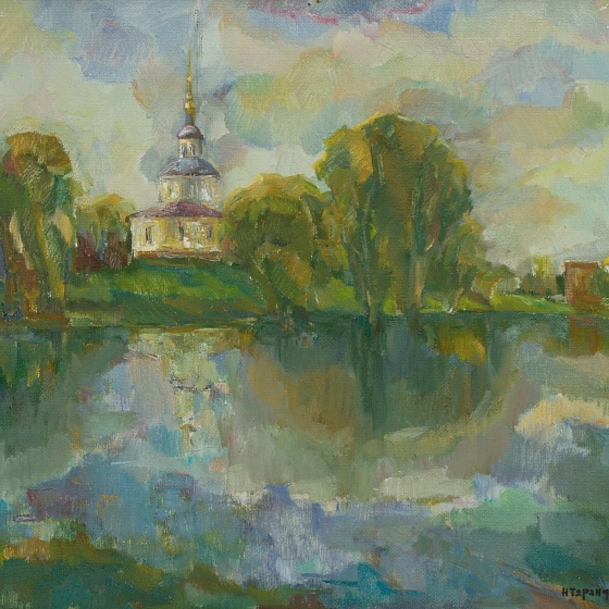 Vyazma. The Nativity of the Holy Mother of God Church. Spring Floods