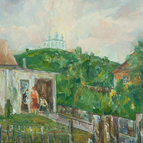 A Yard in Smolensk, from the series Smolensk